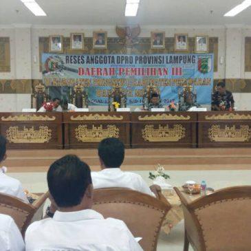 Terima Kunker DPRD Provinsi Lampung Dapil III, Wakil Bupati Sampaikan Informasi Pembangunan